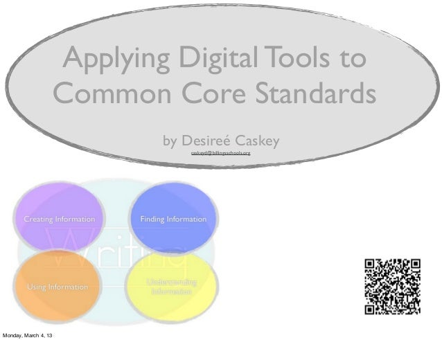 Applying Digital Tools to                  Common Core Standards                          by Desireé Caskey               ...