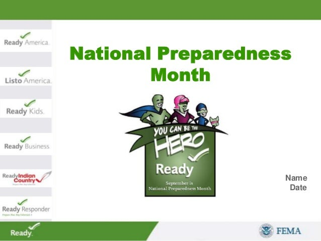 National Preparedness Month Name Date