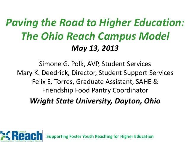 2013 ohio reach campus model