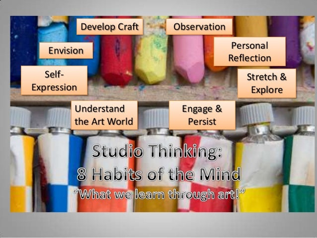 Develop Craft Engage & Persist Self- Expression Understand the Art World Observation Personal Reflection Stretch & Explore...