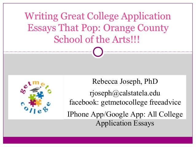 College Application Essay Writing