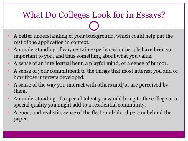 what is a major examples of a good college essay