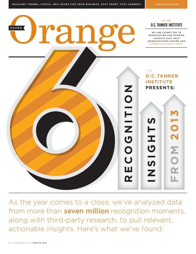 2013 Orange Paper - 6 Insights