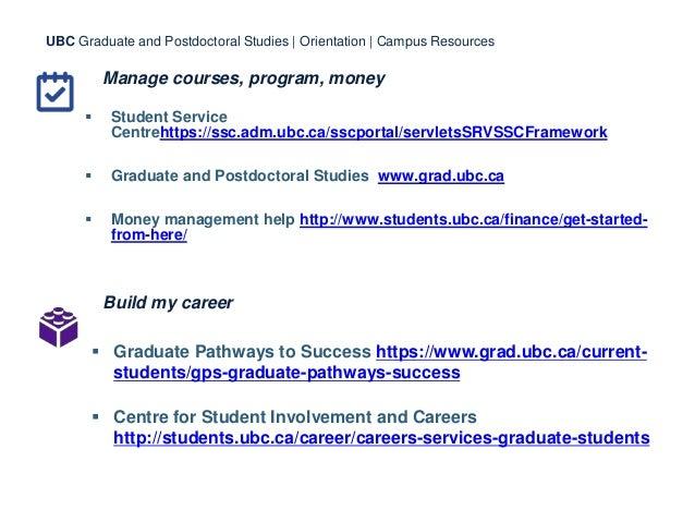Manage courses, program, money  Student Service Centrehttps://ssc.adm.ubc.ca/sscportal/servletsSRVSSCFramework  Graduate...