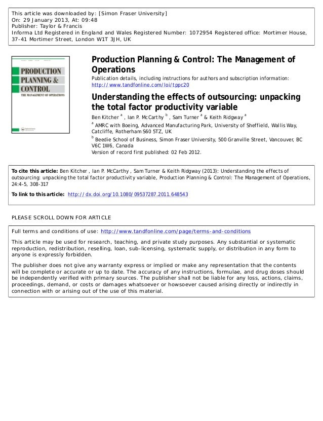 effects of outsourcing In this lesson, we discover two labor trends of the 21st century: outsourcing and migrant labor both of these trends help keep producers' costs.