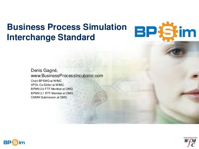 Business Process SimulationInterchange Standard     Denis Gagné,     www.BusinessProcessIncubator.com     Chair BPSWG at W...