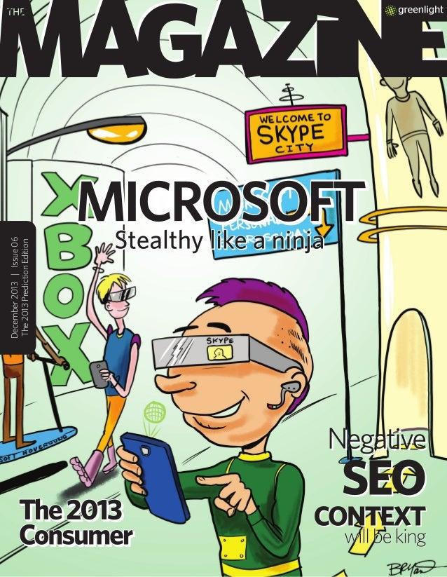 Greenlight's Magazine: 2013 Predictions Edition