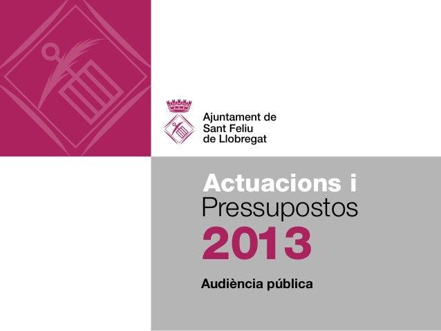 Actuacions iPressupostos2013Audiència pública