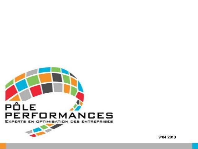 Rencontres Numériques 2013 : Le Pôle Performance, l'alliance de consultants indépendants