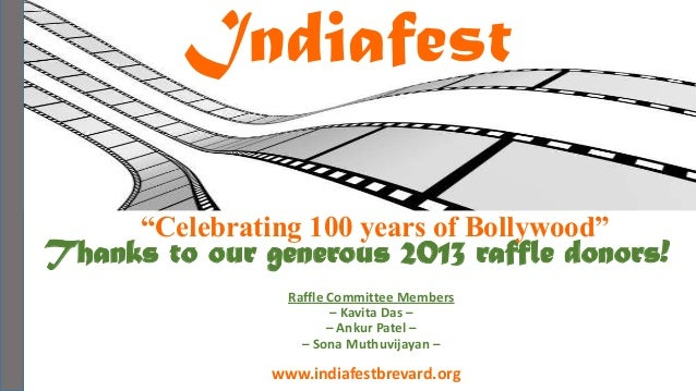 "Indiafest                                             - Kohinoor Sponsor -      ""Celebrating 100 years of Bollywood""Thanks..."