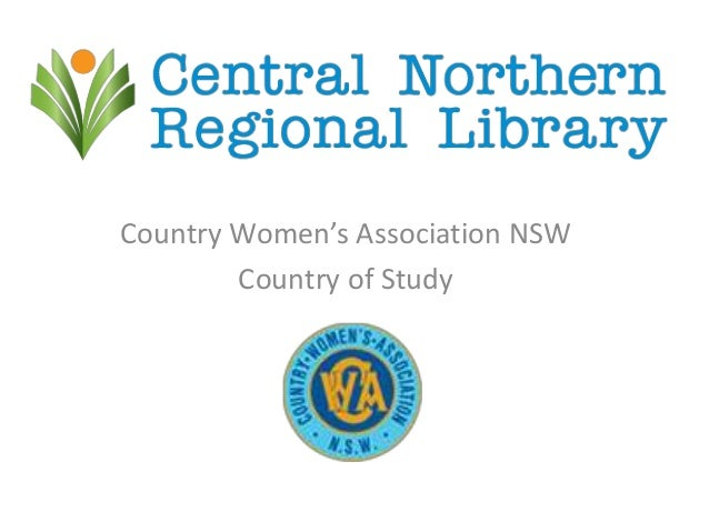 Country Women's Association NSW Country of Study presented by Shiralee Franks