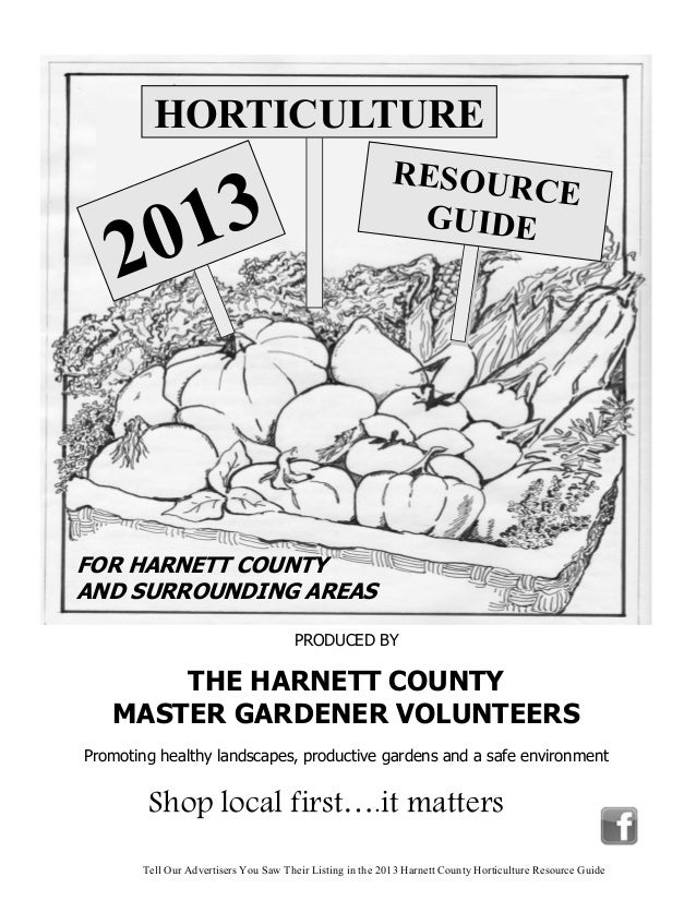2013 Horticulture Resource Guide