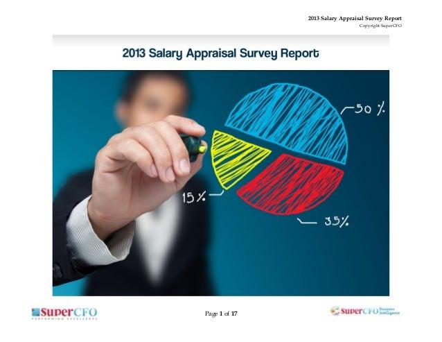 2013 Salary Appraisal Survey Report