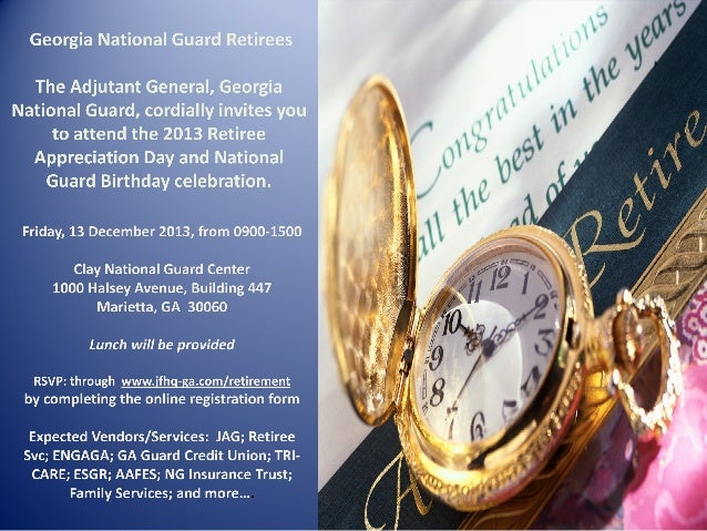 2013 Retiree Appreciation Day and National Guard Birthday Celebration