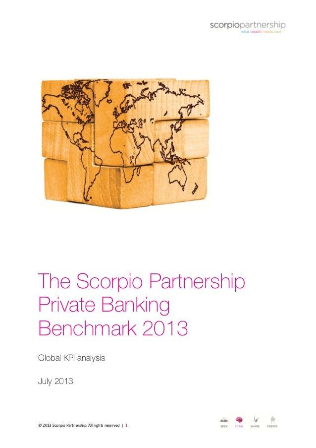 Scorpio Partnership Global Private Banking Benchmark report 2013