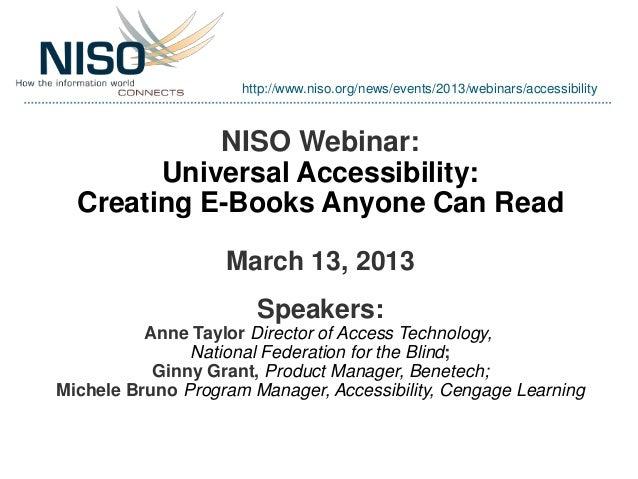 NISO Webinar April 10