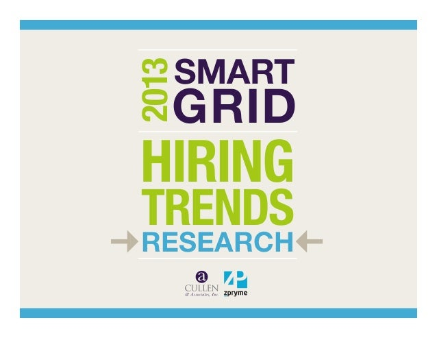 2013  SMART  GRID  HIRING TRENDS RESEARCH