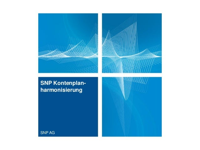 SNP Kontenplan-harmonisierungSNP AG
