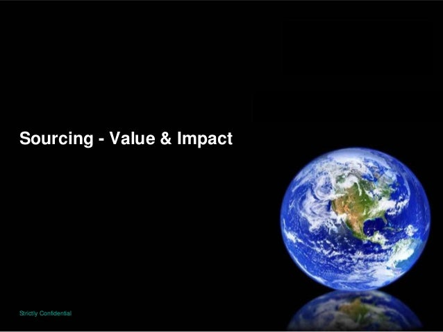 Sourcing - Value & ImpactStrictly Confidential