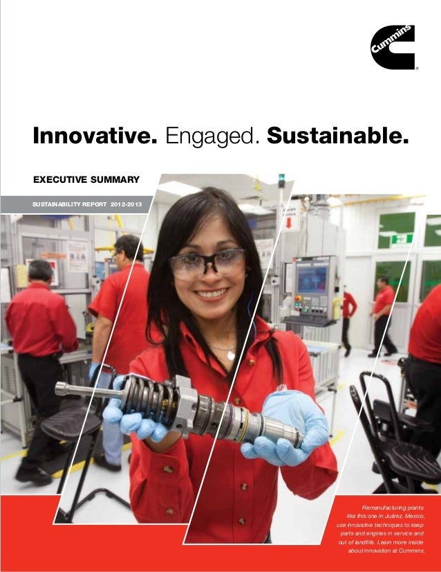 Innovative. Engaged. Sustainable. EXECUTIVE SUMMARY SUSTAINABILITY REPORT 2012-2013  SUSTAINABILITY REPORT 2012–2013   i  ...