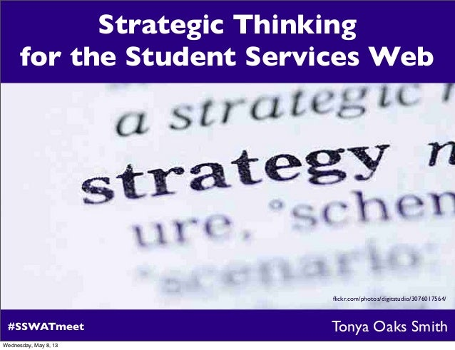 Strategic Thinking for the Student Services Web