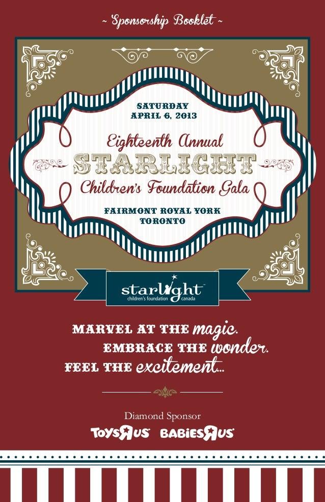 18th Annual Starlight Gala Sponsorship Package