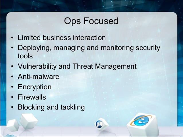 Information security business plan