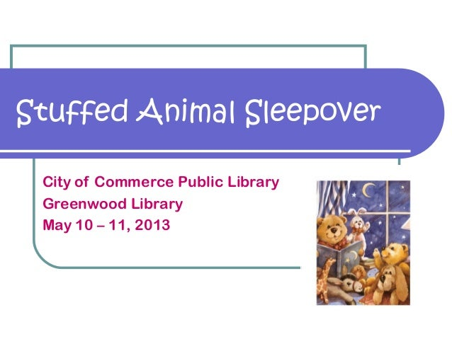 2013 Stuffed Animal Sleepover