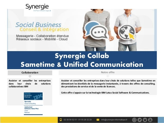 Synergie Collab          Sametime & Unified Communication           Collaboration                                         ...