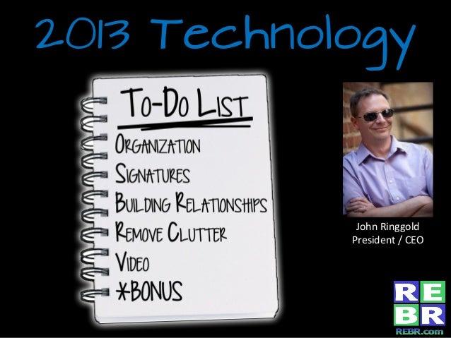 2013 tech to do list (cbgb)