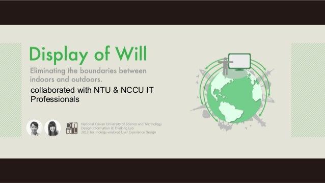 collaborated with NTU & NCCU ITProfessionals