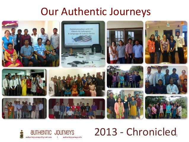 Authentic Journeys 2013 Chronicle of Experiences