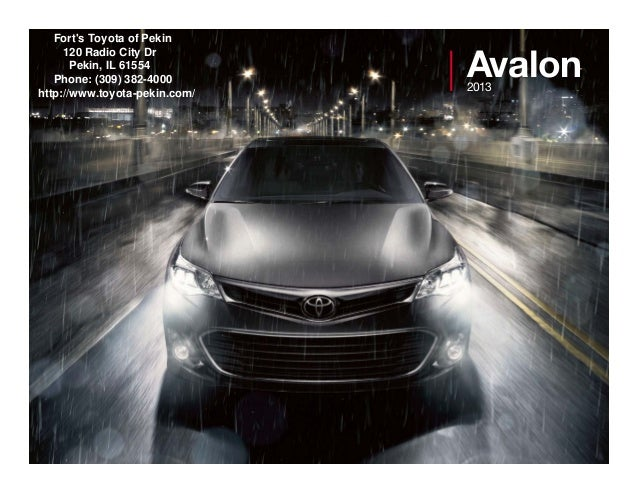 2013 Toyota Avalon Brochure IL | Toyota dealer serving Peoria
