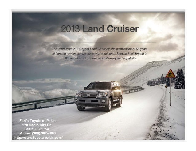 2013 Toyota Land Cruiser Brochure IL | Toyota dealer serving Peoria