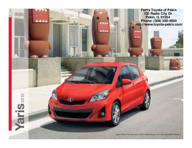 2013 Toyota Yaris Brochure IL   Toyota dealer serving Peoria