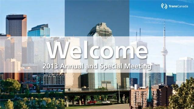 2013 Annual Meeting Presentation