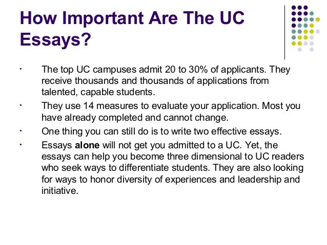 University of california application essay