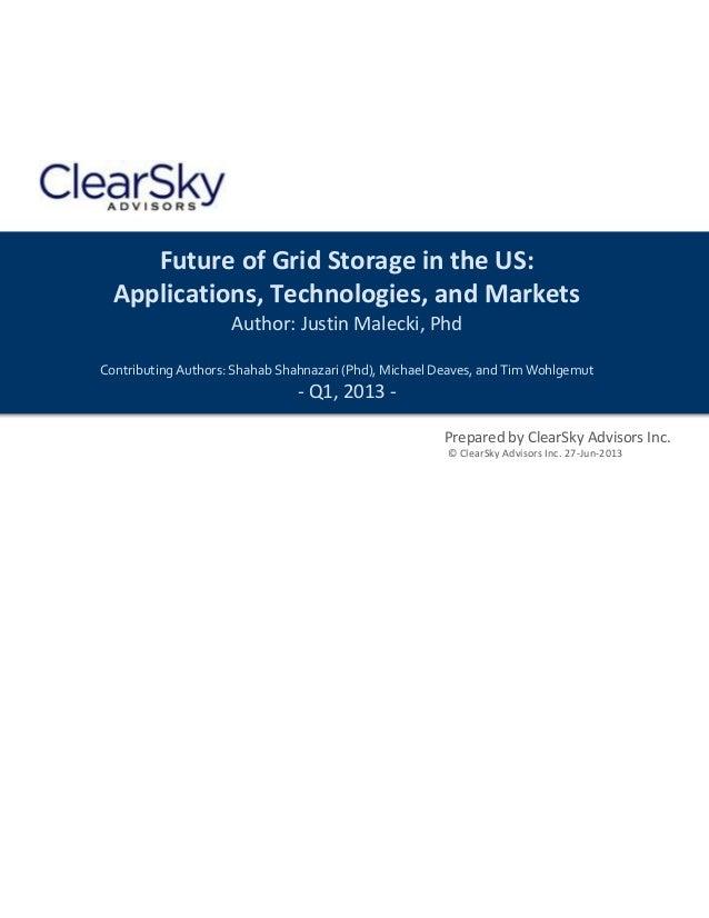 2013 us grid storage report   executive summary