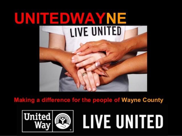 Impact of United Way in Wayne County 2013