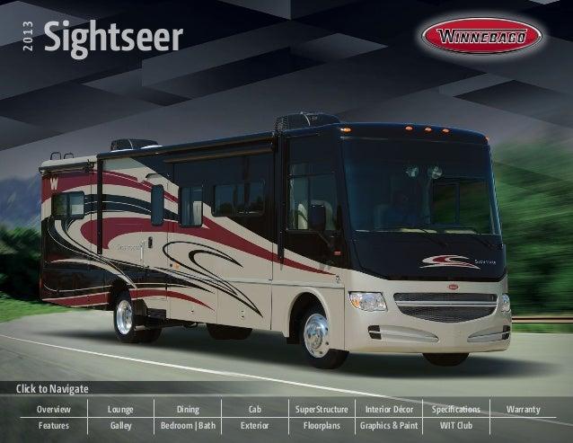 2013 Winnebago Sightseer Class A Motorhome