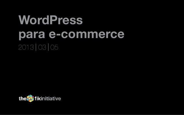 WordPresspara e-commerce2013 03 05