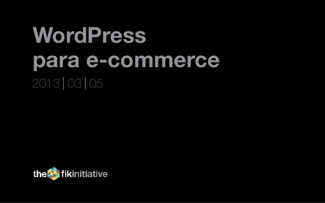Wordpress para ecommerce