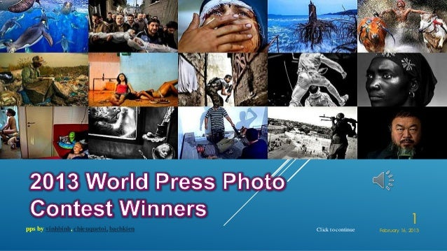2013 World Press Photo Contest Winners
