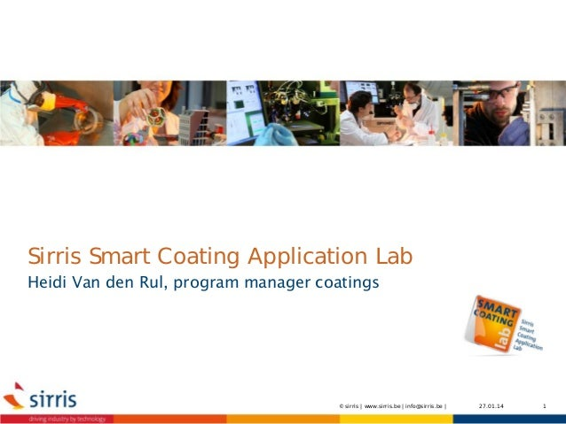 Workshop Smart Coatings Application Lab - Natchemische Coatings - 14-01-2014 - Smart-coating-application-lab