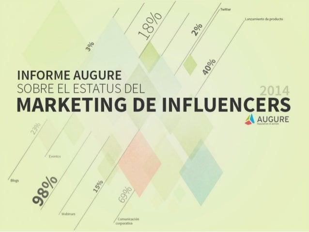 Estatus 2014 del Marketing de Influencers [Estudio Augure]