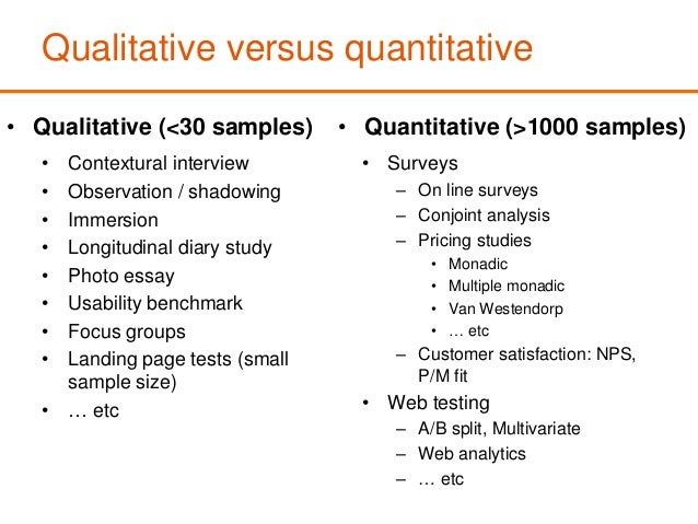 qualitative vs quantitative research essays Keywords: methodologies science human sciences quantitative research  in  psychology: the division between quantitative and qualitative research methods   their pencils and paper and carefully observe and record their observations.
