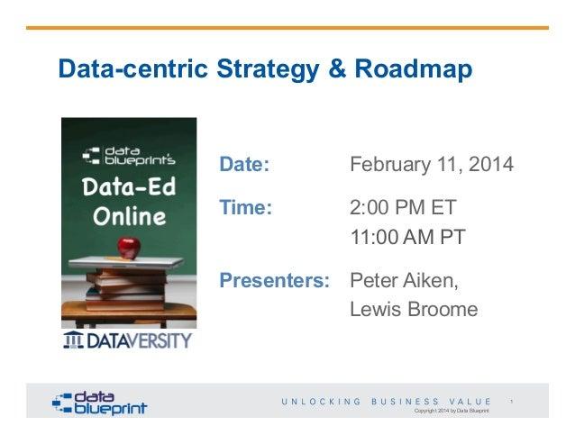 Data-Ed: Data-centric Strategy & Roadmap