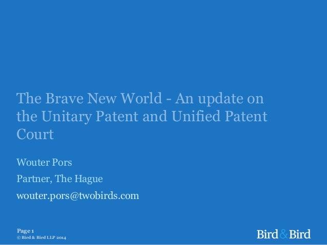 2014-03-09 UPC developments