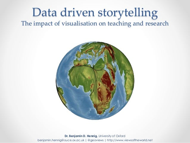 Data driven storytelling The impact of visualisation on teaching and research Dr. Benjamin D. Hennig, University of Oxford...