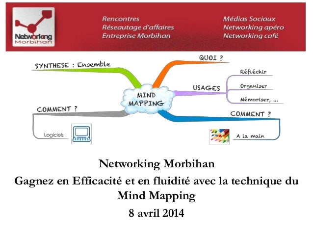 Networking Morbihan  Gagnez en Efficacité et en fluidité avec la technique du  Mind Mapping  8 avril 2014